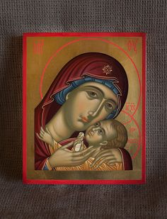 Virgin of Tenderness. Byzantine Icons, Byzantine Art, Christ Pantocrator, Fine Art Drawing, Madonna And Child, Art Icon, Orthodox Icons, Blessed Mother, Religious Art