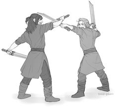'Kili, what are you doing?' 'I'm defending myself!' 'I'm not asking about it, but what are you doing with your second sword! Raise it!' 'Easy to say! I'm not used to fight with two swords! I prefer one than two. Fili Y Kili, Kili And Tauriel, Hobbit 3, Desolation Of Smaug, Jrr Tolkien, Thranduil, Gandalf, Fantasy Series, Martin Freeman