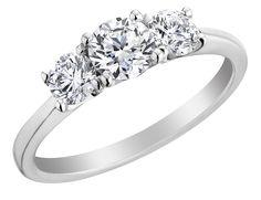 Save $5005 - #Diamond Engagement Ring and Three Stone Anniversary Ring 1.0 Carat (ctw) in Platinum (VS1-VS2) (Certified) $4995.00