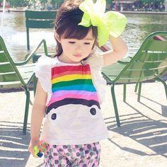 Happy Rainbow Tee – justsolittle