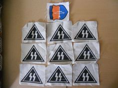 10 SILKSCREENED  MILITARY PATCHES-LOT Z
