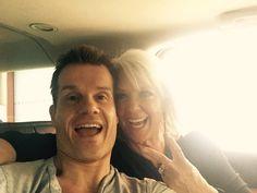 After a long day of press, interviews, and Photoshoots, on our way back to Savannah, GA.! @Paula_Deen @DancingABC