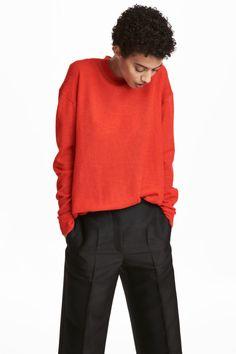 Svetr ze směsi vlny alpaka - Jasně červená - ŽENY | H&M CZ 1