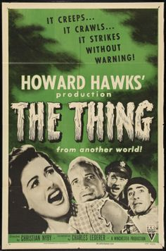 Belgian half sheet posters | The Thing from Another World 1954 one sheet reissue poster $167.30