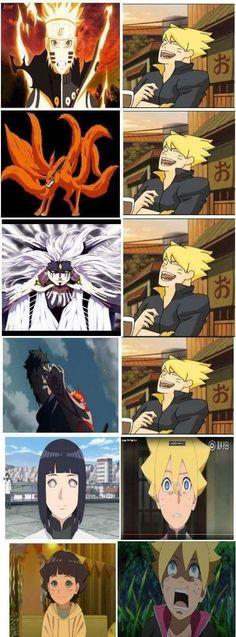Naruto- Haha Hinata and Himawari are the worst fears of Boruto - Anime Naruto, Himawari Boruto, Naruto Comic, Naruto Cute, Naruto Shippuden Sasuke, Naruto And Sasuke, Itachi Uchiha, Gaara, Otaku Anime