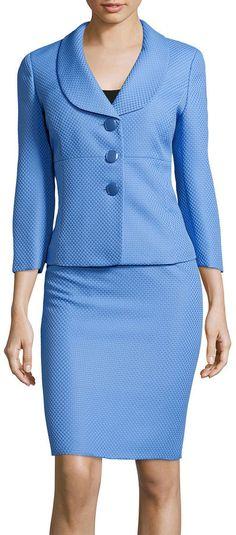 Designer Clothes, Shoes & Bags for Women Dress Attire, Dress Suits, Work Attire, Skirt Suit, Classy Outfits, Chic Outfits, Fashion Outfits, Womens Fashion, Mode Hijab