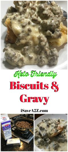 Sausage, Biscuits and Gravy This is the BEST Keto Sausage, Biscuits and Gravy Recipe I've ever tried! via is the BEST Keto Sausage, Biscuits and Gravy Recipe I've ever tried! Keto Foods, Ketogenic Recipes, Low Carb Recipes, Cooking Recipes, Bariatric Recipes, Keto Snacks, Diabetic Recipes, Keto Biscuits, Sausage Biscuits