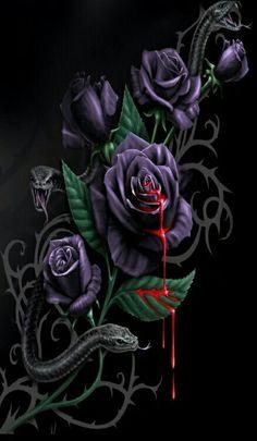 Bleeding Rose Art