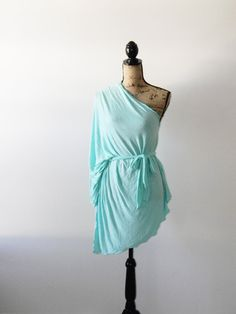 Soft Mint Knit Poncho/ Summer Poncho/ Summer by JessMDesigns, $30.00
