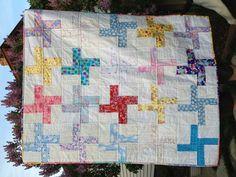 Easy pinwheel scrap quilt