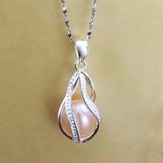 925 Sterling Silver Locket Cage Pendant - Twisted Teardrop Shape  Unbranded   Trendy Turquoise Jewelry 89fcea0eef21