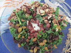 Curly kale and salpico salad | InspiredNourishment.wordpress.com