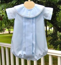 Creations By Michie': Pleated Bubble Baby Boy Dress, Baby Boy Outfits, Kids Outfits, Sewing Kids Clothes, Baby Sewing, Babies Clothes, Kids Clothing, Blessing Dress, Baby Dress Design