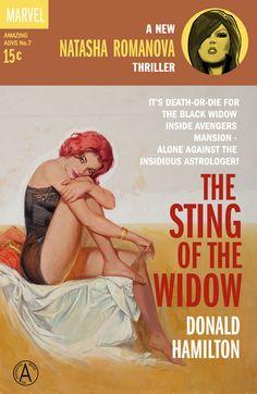 Black Widow, Luke Cage, and The Wasp - Pulp Noir BookArt - News - GeekTyrant