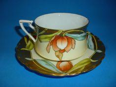 Antique Bavaria China TEACUP & SAUCER Gorgeous Cup & Saucer Rich Gold Accents  picclick.com