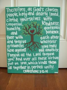 Custom Bible Verse or Quote Canvas by WadeMade on Etsy, $25.00