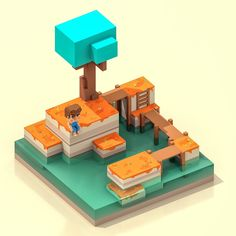 "William Santacruz on Twitter: ""Calm Day #voxels #voxelart #voxel #magicavoxel #qubicle #3d #3dart #gameart #gamedesign #pixel #lego #Minecraft #retroart #retrostyle #8bits https://t.co/e8LSQ16T1g"""
