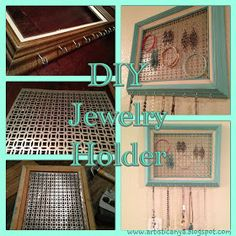 Great idea for a jewelry holder