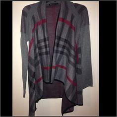Plaid cardigan!! Barley worn, size Small/Medium Sweaters Cardigans
