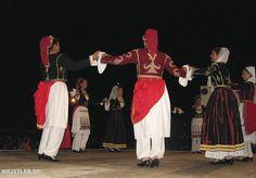 Dancers in Sfakia in traditional Cretan costumes