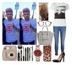 """Day in L.A with Zayn"" by zandramalik ❤ liked on Polyvore featuring Zoe Karssen, Yves Saint Laurent, Ray-Ban, Christian Louboutin, Michael Kors and Lord & Berry"