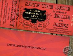 Circus or Carnival theme Wedding Save the Date by HydraulicGraphix.
