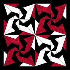 Bats In The Belfry Paper Piece Block PDF Pattern by MadCreekDesigns