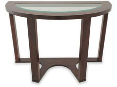Marion Contemporary Dark Brown Metal Glass Sofa Table