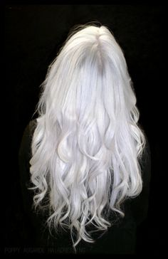 White Silver Hair - can't wait until mine gets like this!  Family history tells me I only need to wait about 10-15 more years... LOL