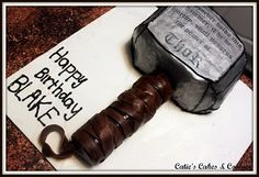 Catie's Cakes & Cookies: Thor's Hammer- I totally want one for my Birthday.