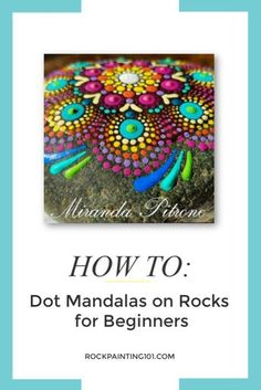 How to create dot mandala rocks step-by-step. Rock painting tutorial for dot mandalas for beginners. How to create dot mandala rocks step-by-step. Rock painting tutorial for dot mandalas for beginners. Rock Painting Patterns, Rock Painting Ideas Easy, Dot Art Painting, Rock Painting Designs, Dot Painting On Rocks, Matte Painting, Painting Tutorials, Stone Painting, Mandala Art Lesson