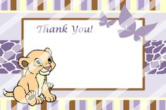 partyexpressinvitations - Baby Nala Baby Shower Thank You Card , $5.00 (http://www.partyexpressinvitations.com/baby-nala-baby-shower-thank-you-card/)