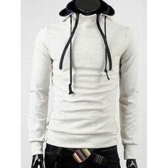 27.71$  Buy here - http://di7z2.justgood.pw/go.php?t=198797001 - Hooded Long Sleeve Double Zipper Design Fleece Hoodie 27.71$