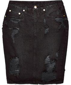Ksubi Hi & Wasted Posh Blasted Skirt
