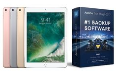 In addition to a brand new iPad Pro 9.7 inch tablet, we are giving away copies of super-fast backup software Acronis True Image 2017.