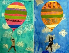 Have students write their hopes and dreams in air balloon.