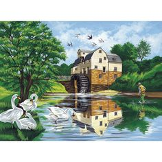 12×16 Paint By Number Kit – Watermill « Blast Groceries