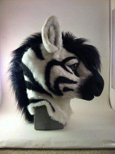 Zebra fur-suit head