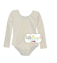 d81eebd67f Ivory Leotard (Child) Long Sleeve Leotard Front Lined-Great for Weddings