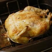 rotisserie chicken in a conventional oven.