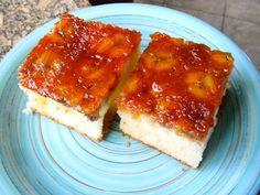 Abóbora Menina: Torta caramelizada de bananas!