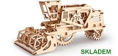 Kombajn - mechanické hračky stavebnice. SKLADEM na eshopu www.hrackyproklukyaholky.cz