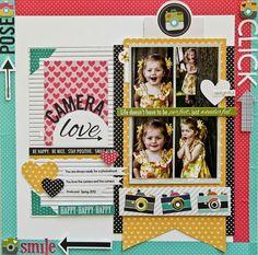 #papercraft #scrapbook #layout    A Bella Blvd Snapshots layout by Jodi Wilton.