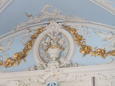 Ever since I was a little girl I have dreamed of visiting The Hermitage, the winter palace of Catherine the Great that consists of five interconnected bui Aesthetic Themes, Aesthetic Bedroom, Aesthetic Pictures, Baby Blue Bedrooms, Blue Rooms, Disney Princess Room, Light Blue Aesthetic, Picture Wall, Photo Wall