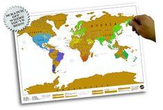 Scratch Map - Skrap frem de steder du har besøkt!