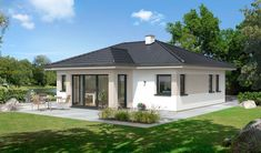 Comfort 79 W House Layout Plans, Dream House Plans, Small House Plans, House Layouts, Bungalow Style House, Bungalow House Plans, Modern Bungalow, One Storey House, Affordable House Plans