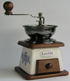 old #coffee #grinder. More coffee #grinders at http://coffee-a2z.com/