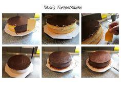 Silvia's Tortenträume:  Torte mit Ganache einstreichen Untergrund Fondant Anleitung Tutorial