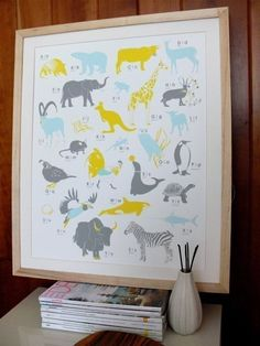 ink & wit animal poster.