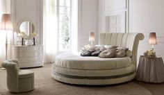 12 Amazing Round Beds That Will Definitely Spice Up Your Bedroom Bedroom Furniture Sets, Furniture Sale, Discount Furniture, Furniture Design, Cama Vintage, Divan Sofa, Round Beds, Buy Bed, Beds For Sale